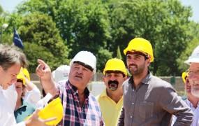 Joaquín de la Torre recorrió obras para vivienda junto al titular de la ANSeS