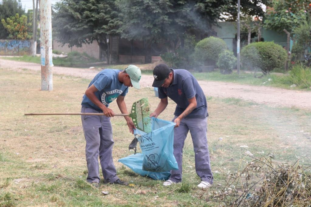 Operativos de limpieza en distintos puntos de San Miguel