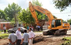 Avanza el tramo final de la obra hidráulica de la cuenca Santa Fe – Barrio Mitre