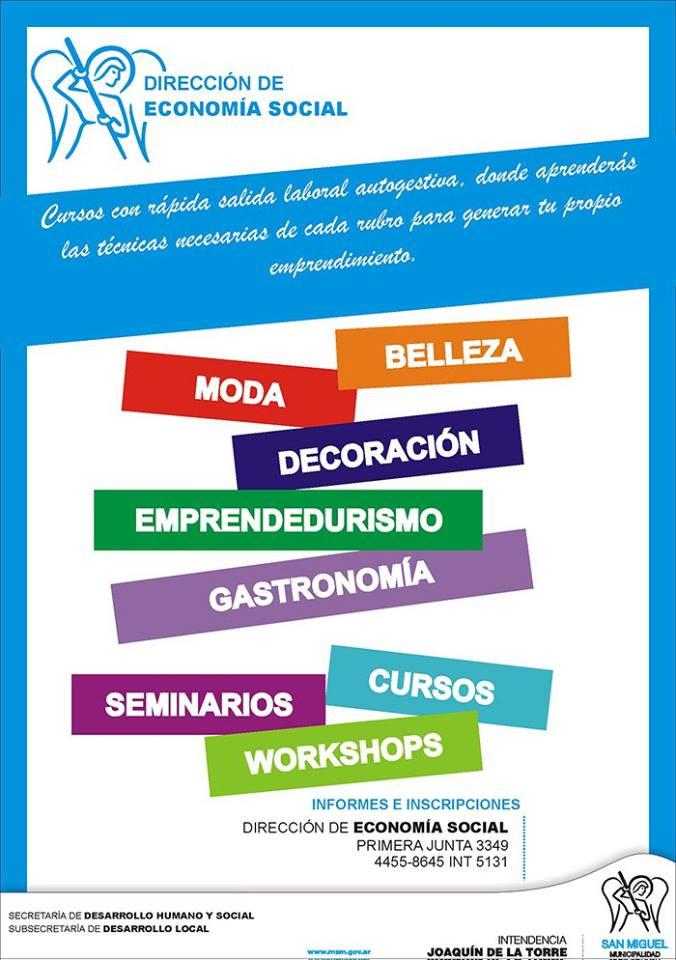 Cursos de capacitaci n 2016 municipalidad de san miguel for Municipalidad de avellaneda cursos