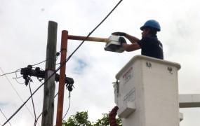 Reparación de luminarias en la vía pública