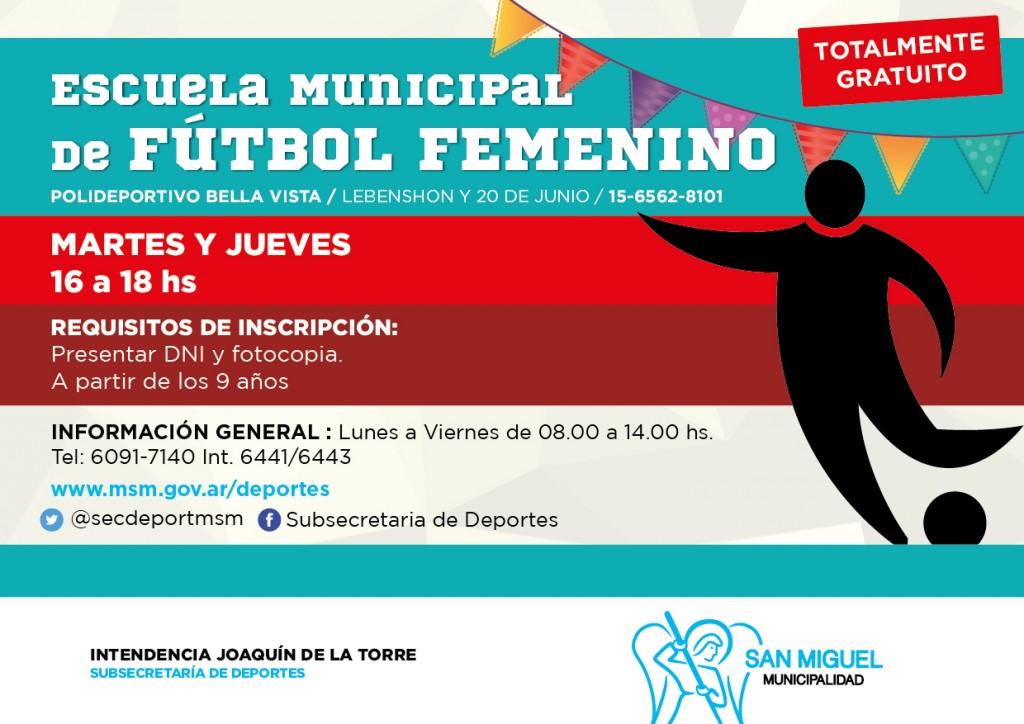 VOLANTE FUTBOL FEMENINO 2016