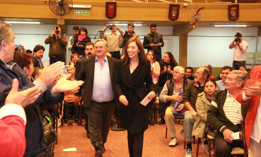 María Eugenia Vidal junto a Joaquín de la Torre en San Miguel