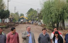 Comenzó la primera etapa del pavimento de Remigio López, que a su término llegará de Caseros a la ruta 23