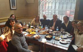 La comitiva municipal compartió un almuerzo de trabajo con el equipo del ministerio de desarrollo económico de uruguay