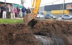 Día histórico: La obra hidráulica de la Cuenca Santa Fe – Barrio Mitre llegó a la Ruta y está próxima a inaugurarse