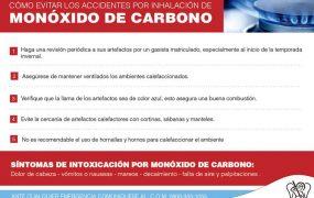 El Municipio impulsa Campaña de Prevención contra el Monóxido de Carbono
