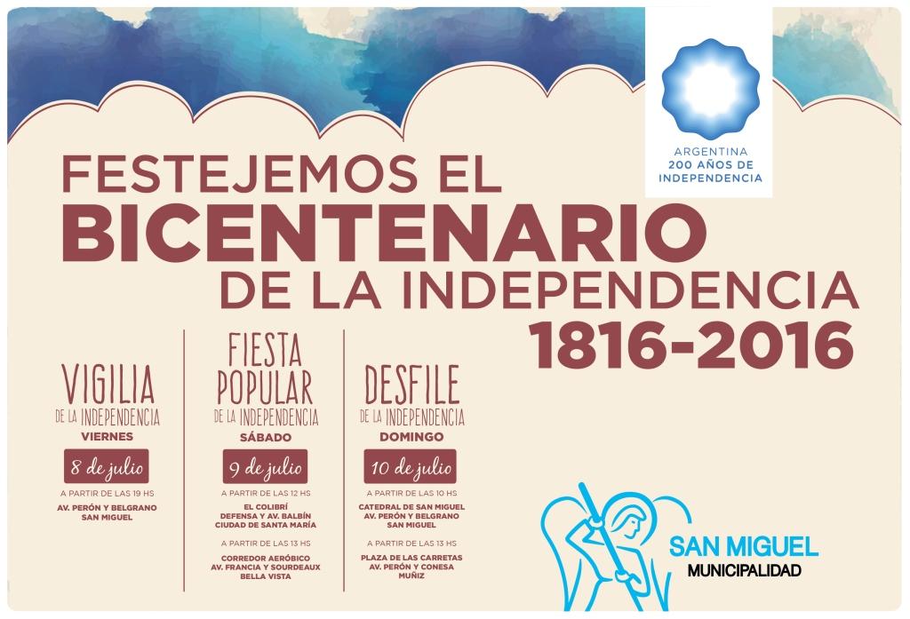 San Miguel prepara los festejos para recibir el Bicentenario de la independencia