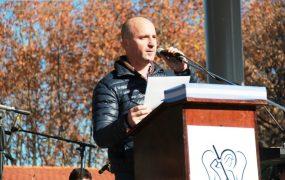 El secretario General, Héctor Calvente, tomó promesa de compromiso con el cuidado del medioambiente a los alumnos
