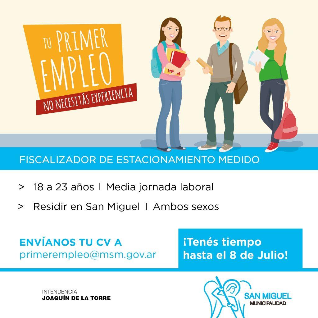 Tu primer empleo - Municipalidad de San Miguel