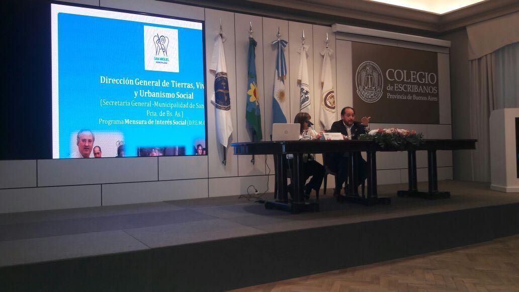 El Municipio expuso como modelo de Reordenamiento Urbano y Regularización Dominial