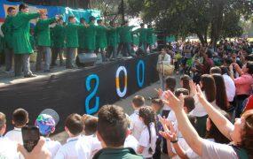 El show de un colegio en los festejos del Bicentenario