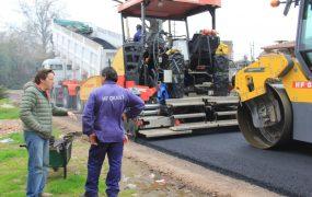 Jaime Méndez en obras de asfaltos en Trujui 2