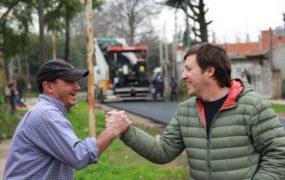 Jaime Méndez en obras de asfaltos en Trujui 4