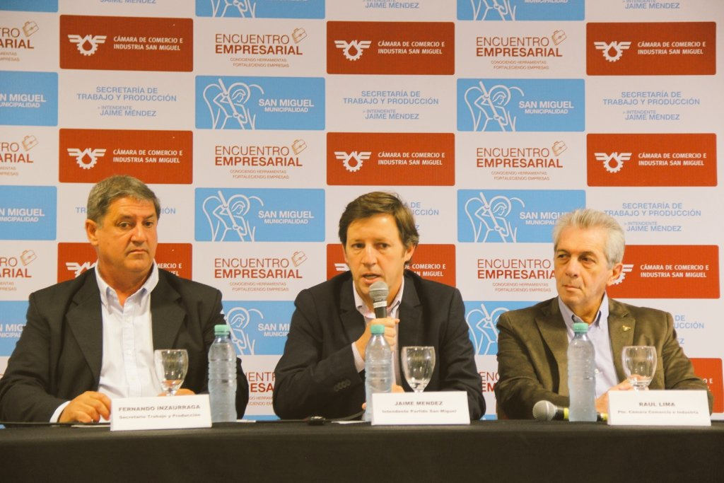 Jaime Méndez encabezó el 1° Encuentro Empresarial de San Miguel