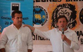 Jaime Méndez y Gribaudo visitaron un centro de jubilados de San Miguel