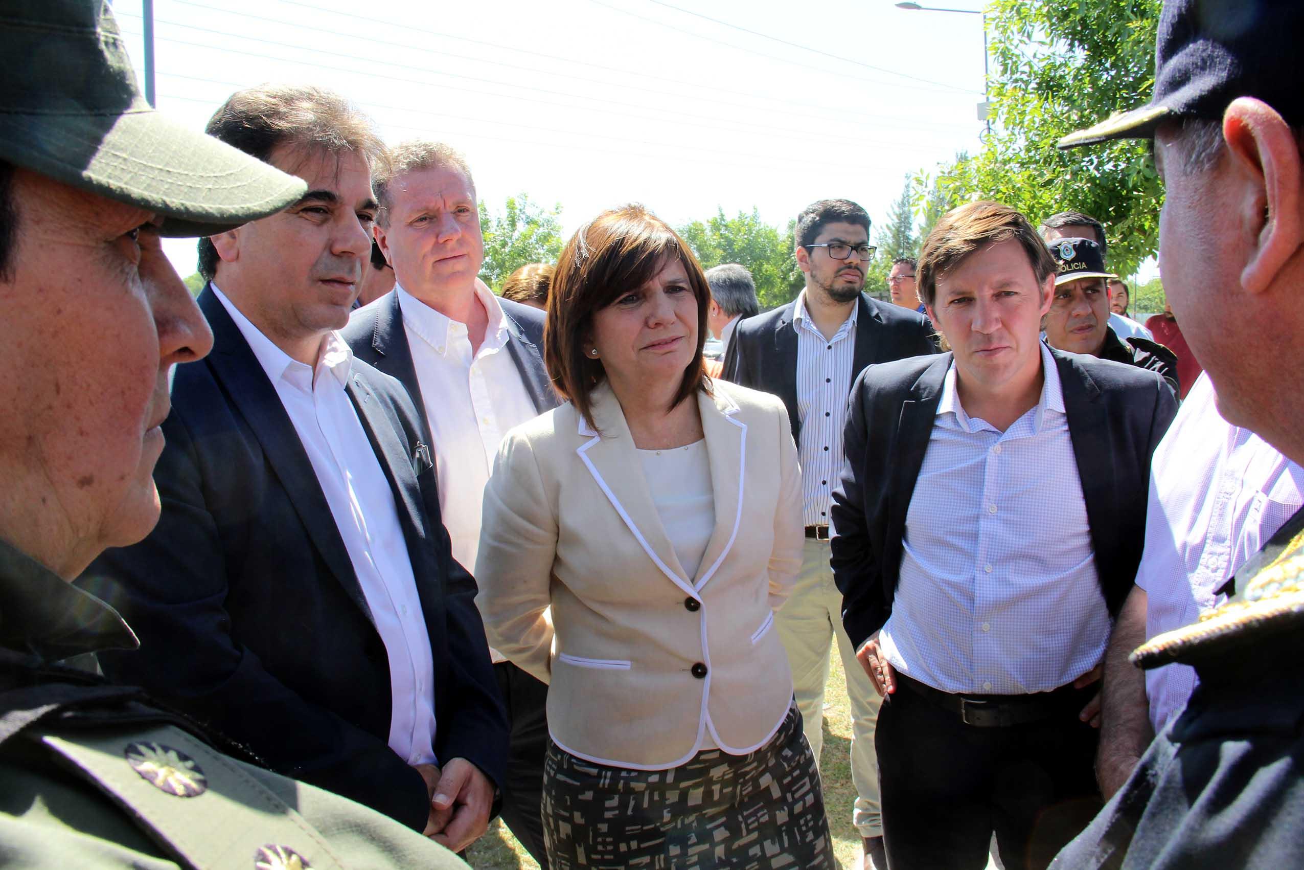 Bullrich y Ritondo supervisaron con el Intendente la llegada oficial de Gendarmería a San Miguel