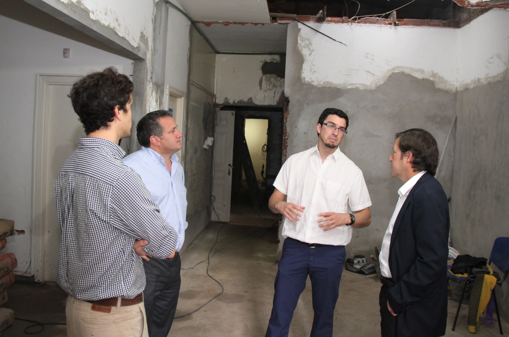 Jaime Méndez recorrió obras de ampliación de un centro de atención primaria
