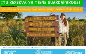 La reserva natural de San Miguel presentó a su primera guardaparque
