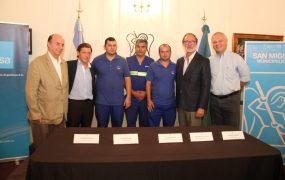 Jaime Méndez y Daniel Chain sellaron el arribo oficial de AYSA