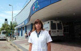 La Dra. Luciana Ruffini, directora del Hospital Larcade