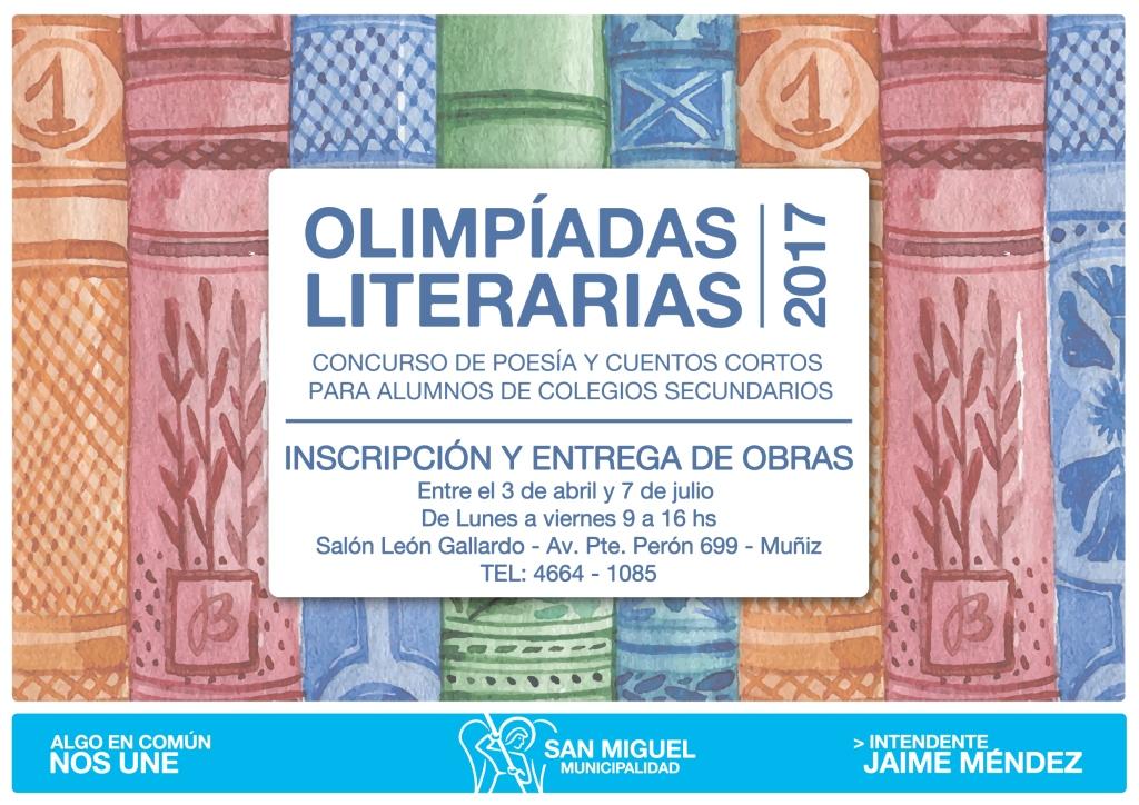 Olimpiadas literarias 2017