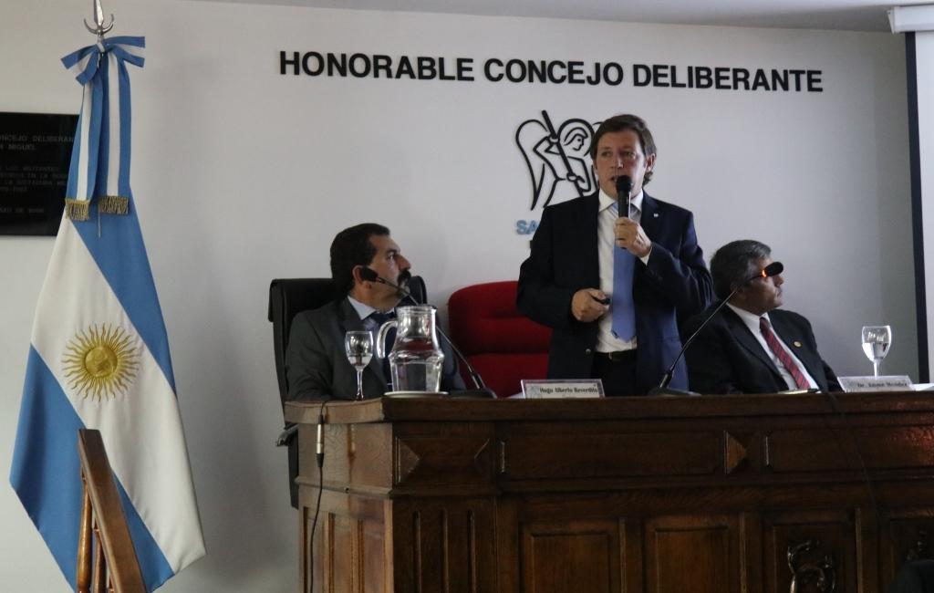 Jaime Méndez abrió las sesiones ordinarias