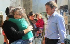 Jaime Méndez en la casa de Pablina y Adriana, de barrio Obligado