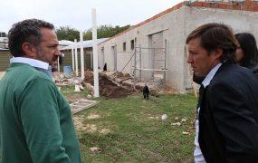 Pablo de la Torre y Jaime Méndez en la obra del nuevo CDFI