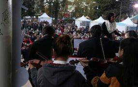 Música en la plaza de las carretas en homenaje a Fernando Córdoba