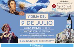 Vigilia del 9 de julio en San Miguel