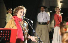 Yamila Cafrune en la vigilia del 9 de julio