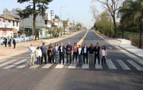 Inauguración del primer tramo de Ruta 8, en San Miguel