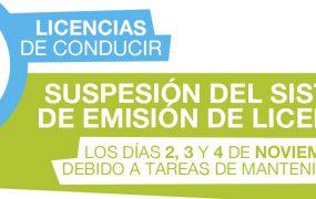 SUSPENSIÓN DEL SISTEMA DE EMISIÓN DE LICENCIA