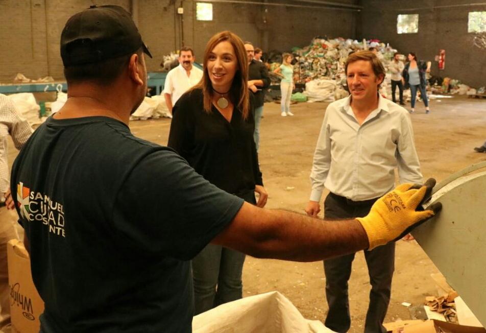 Vidal y Jaime Méndez visitaron la Planta de Reciclado