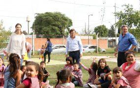 María Eugenia Vidal y Jaime Méndez visitaron Rayito de Luz