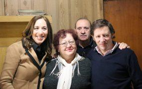 Vidal visitó a vecinos de Los Berros