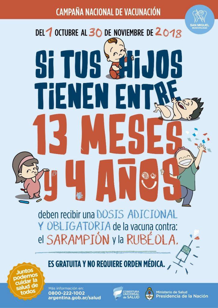 Campaña de vacunación contra el Sarampión y la rubéola
