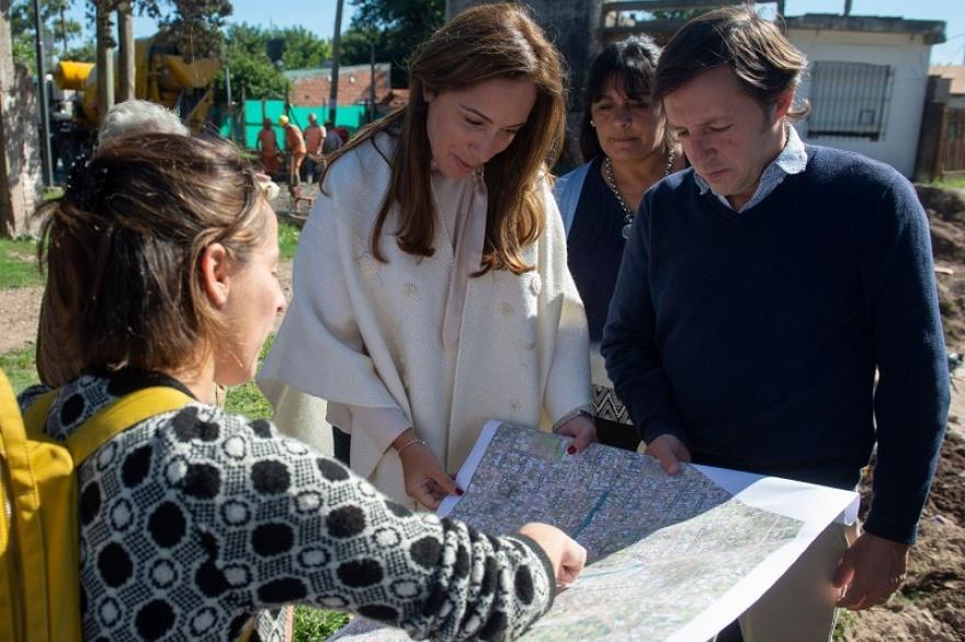 María Eugenia Vidal y Jaime Méndez recorrieron obras en Santa Brígida