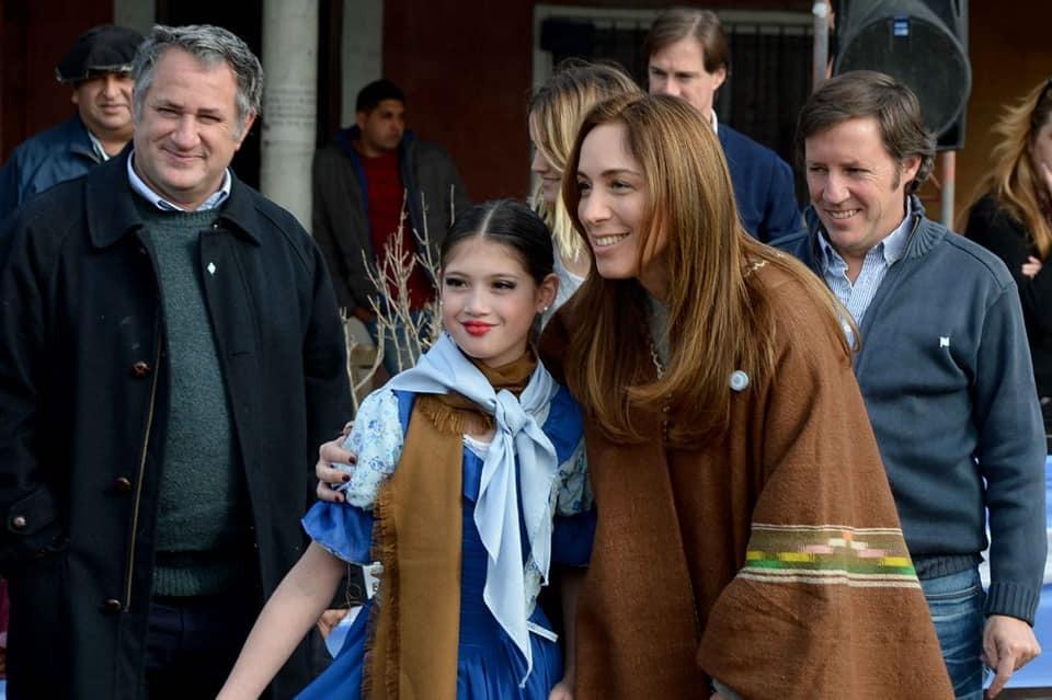 María Eugenia Vidal y Jaime Méndez festejaron el 9 de julio en San Miguel